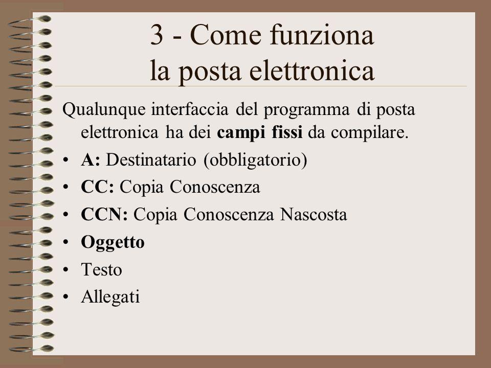 3 - Come funziona la posta elettronica