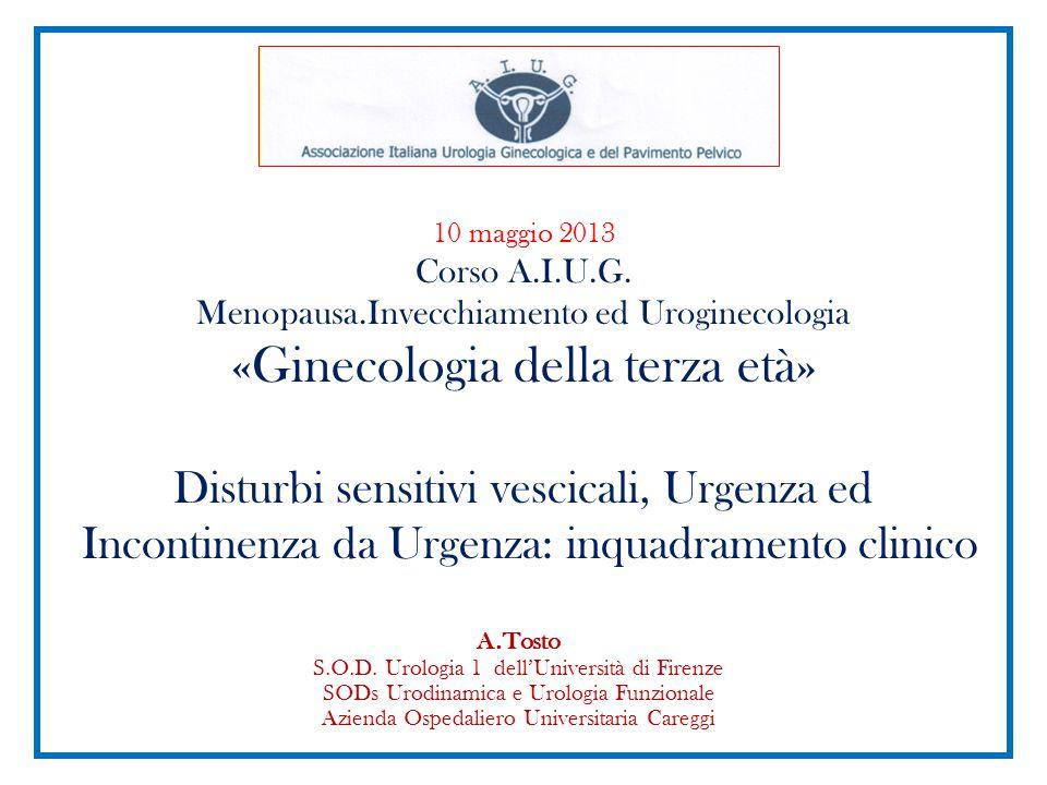 10 maggio 2013 Corso A. I. U. G. Menopausa