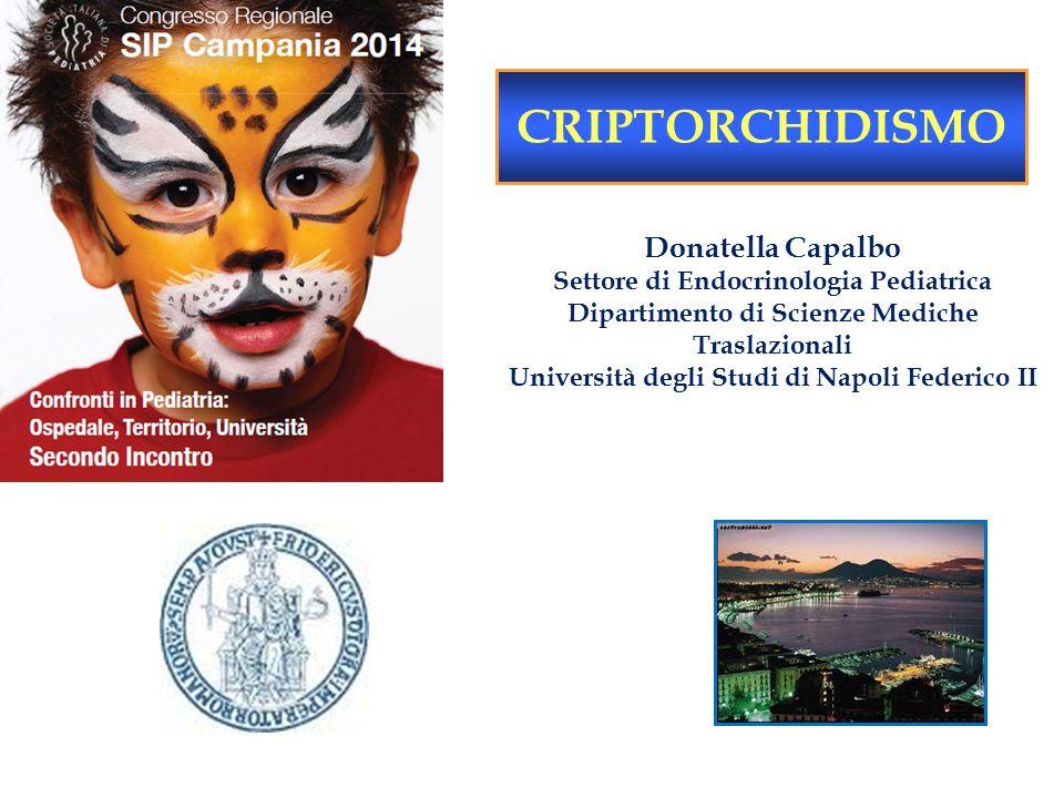 CRIPTORCHIDISMO Donatella Capalbo Settore di Endocrinologia Pediatrica