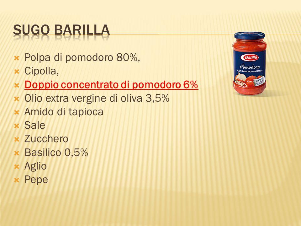 Sugo Barilla Polpa di pomodoro 80%, Cipolla,