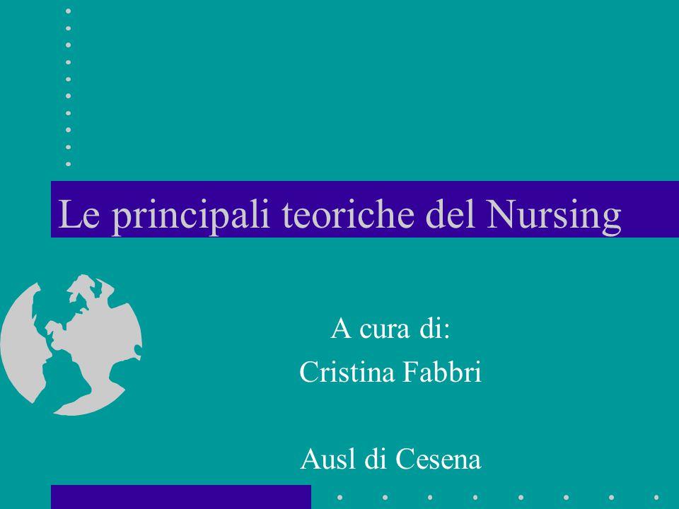 Le principali teoriche del Nursing