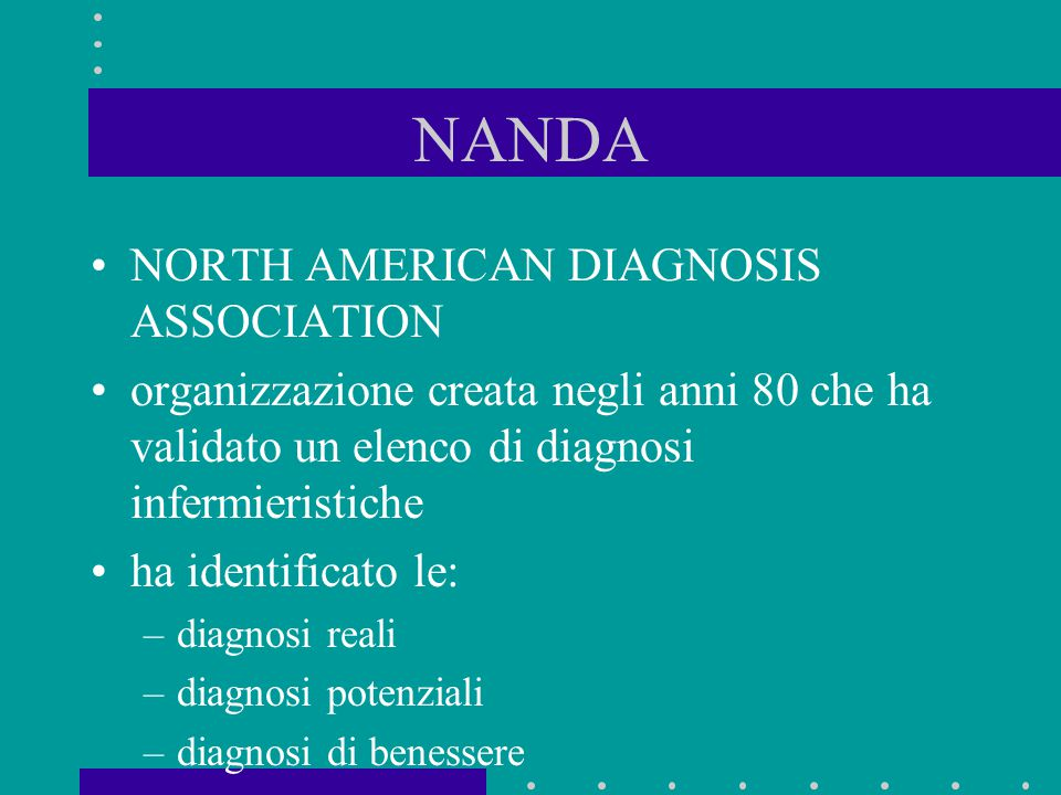 NANDA NORTH AMERICAN DIAGNOSIS ASSOCIATION