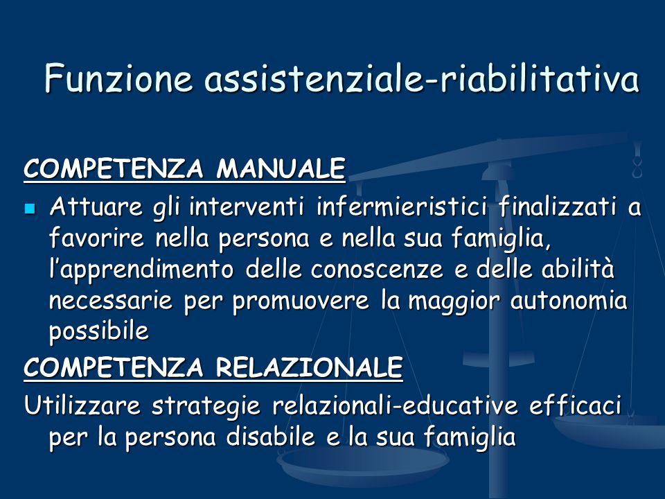 Funzione assistenziale-riabilitativa