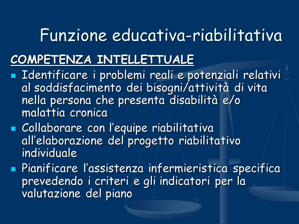 Funzione educativa-riabilitativa