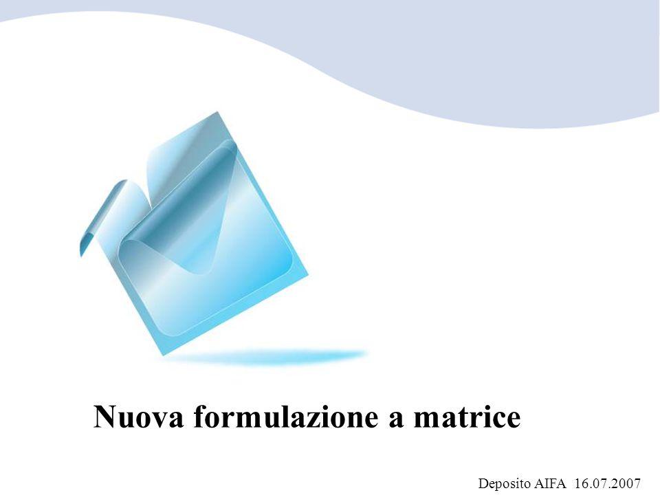 Nuova formulazione a matrice