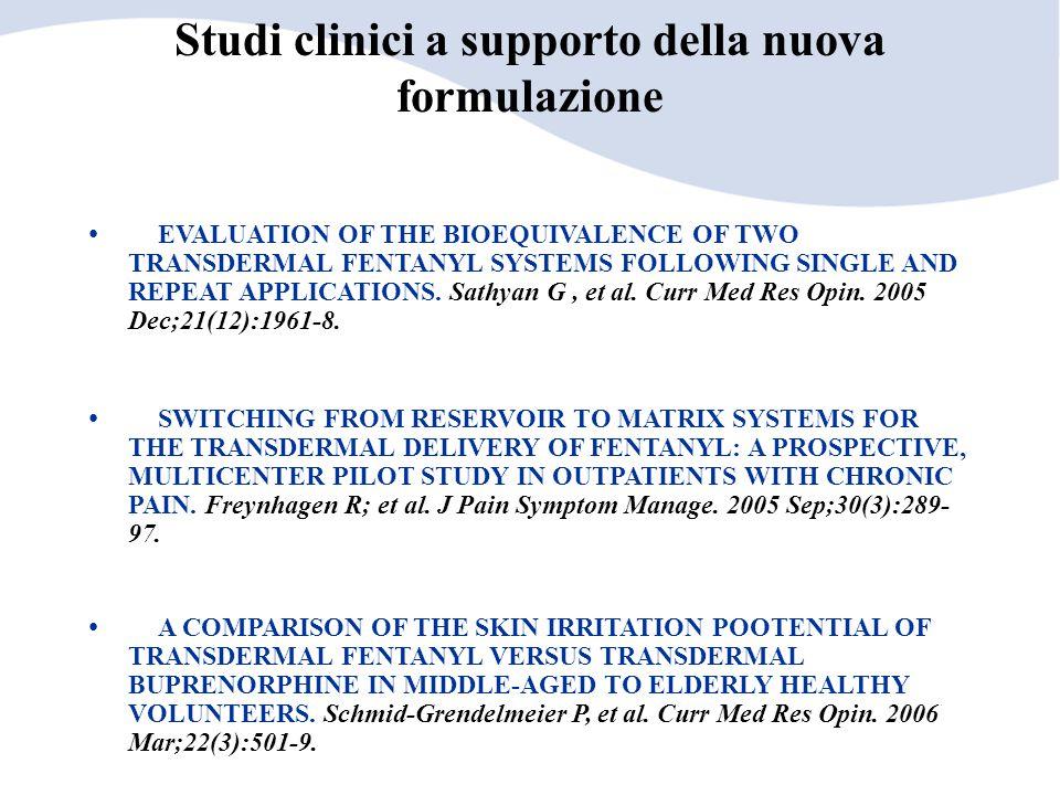 Studi clinici a supporto della nuova formulazione