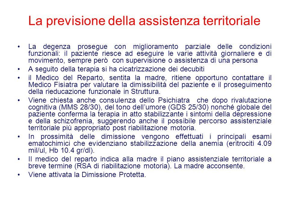 La previsione della assistenza territoriale