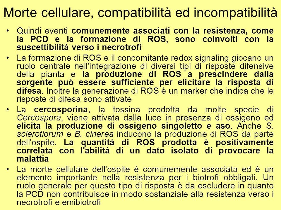 Morte cellulare, compatibilità ed incompatibilità