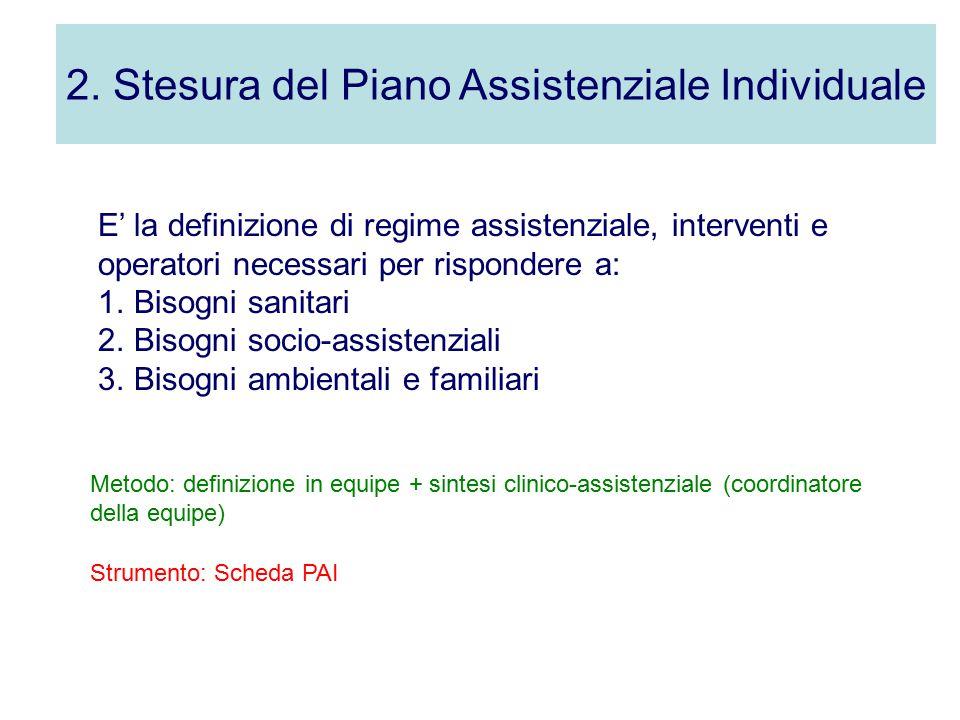 2. Stesura del Piano Assistenziale Individuale