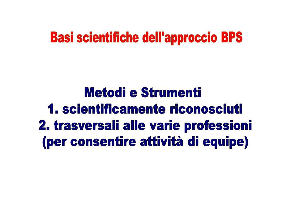 1. scientificamente riconosciuti 2. trasversali alle varie professioni