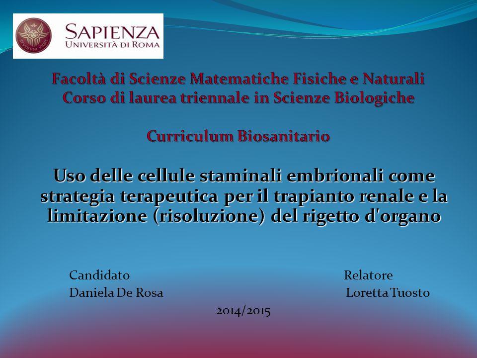 Facoltà di Scienze Matematiche Fisiche e Naturali Corso di laurea triennale in Scienze Biologiche Curriculum Biosanitario