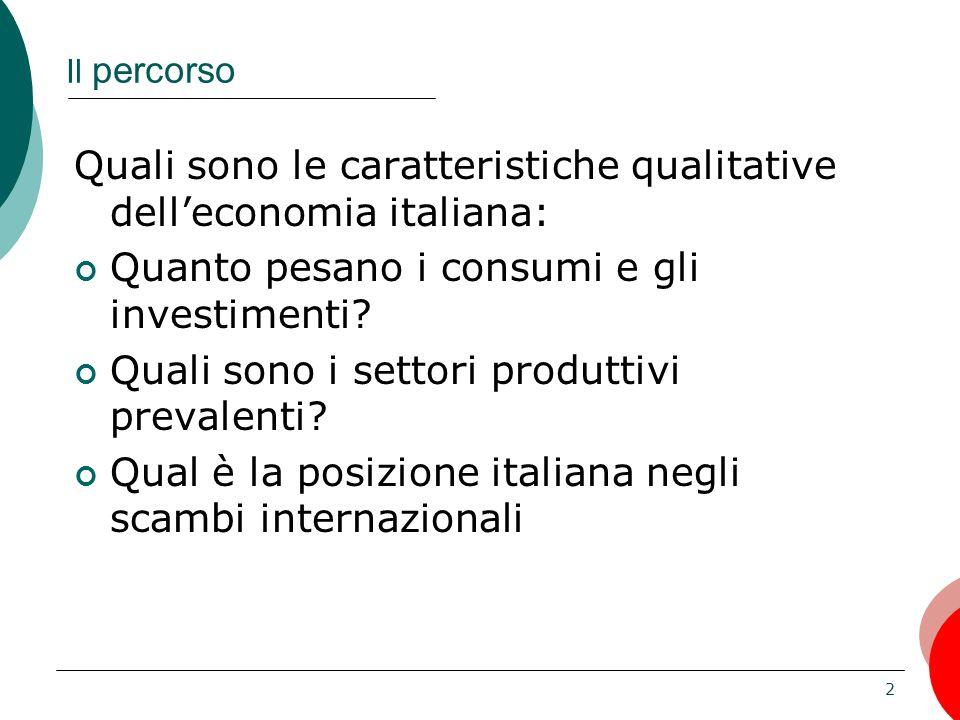 Quali sono le caratteristiche qualitative dell'economia italiana: