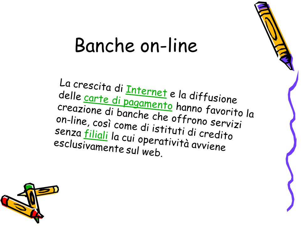 Banche on-line