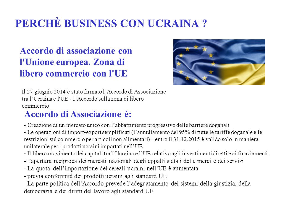 PERCHÈ BUSINESS CON UCRAINA