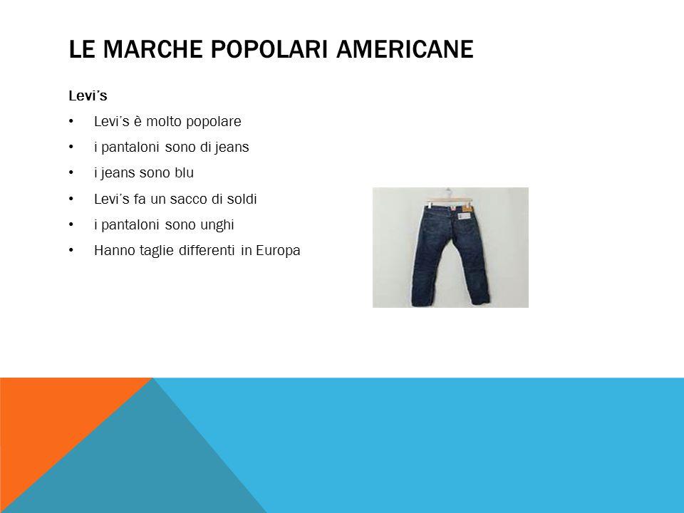 Le marche popolari americane