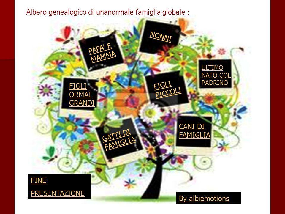 Albero genealogico di unanormale famiglia globale :