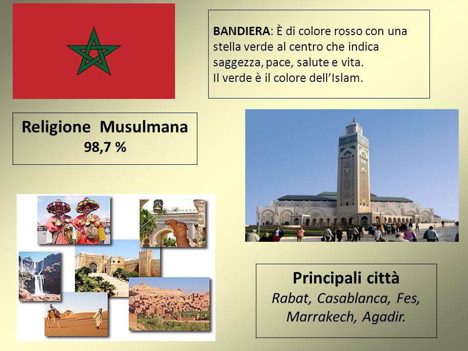 Rabat, Casablanca, Fes, Marrakech, Agadir.