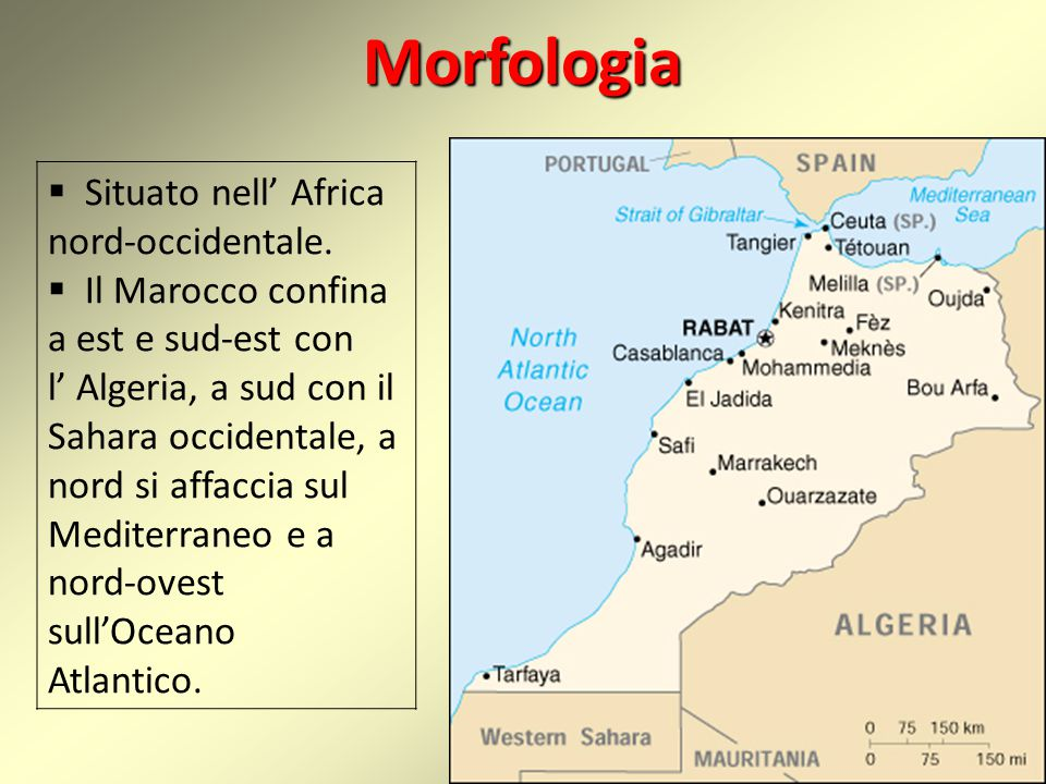 Morfologia Situato nell' Africa nord-occidentale.