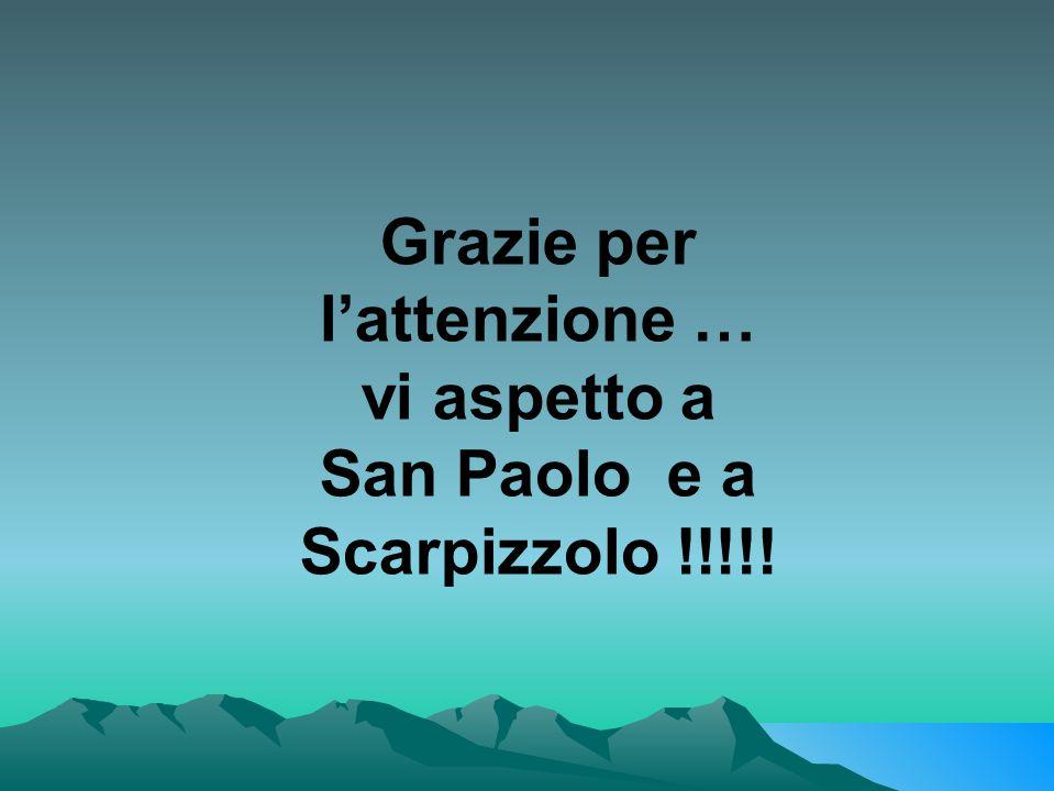 Grazie per l'attenzione … San Paolo e a Scarpizzolo !!!!!