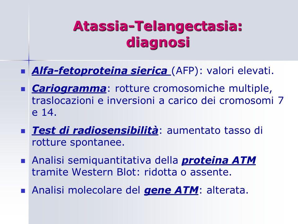 Atassia-Telangectasia: diagnosi
