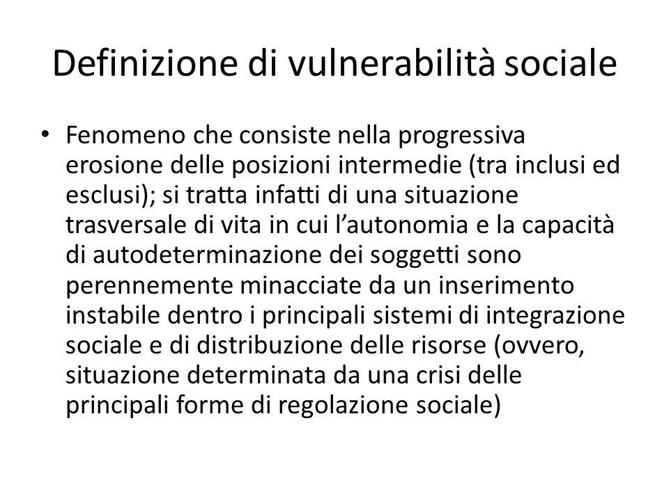 Definizione di vulnerabilità sociale