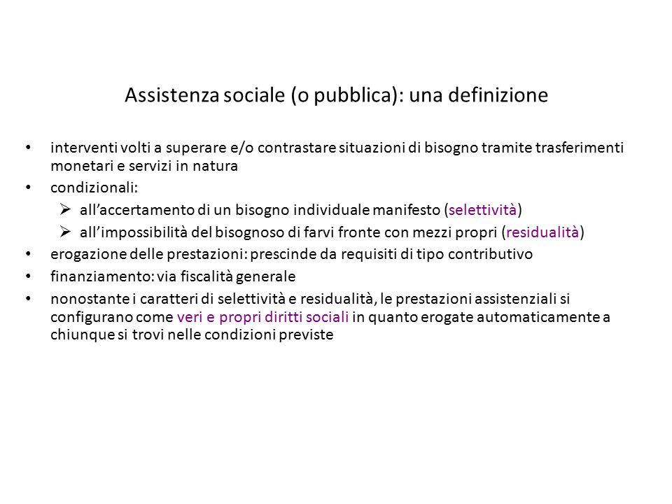 Assistenza sociale (o pubblica): una definizione