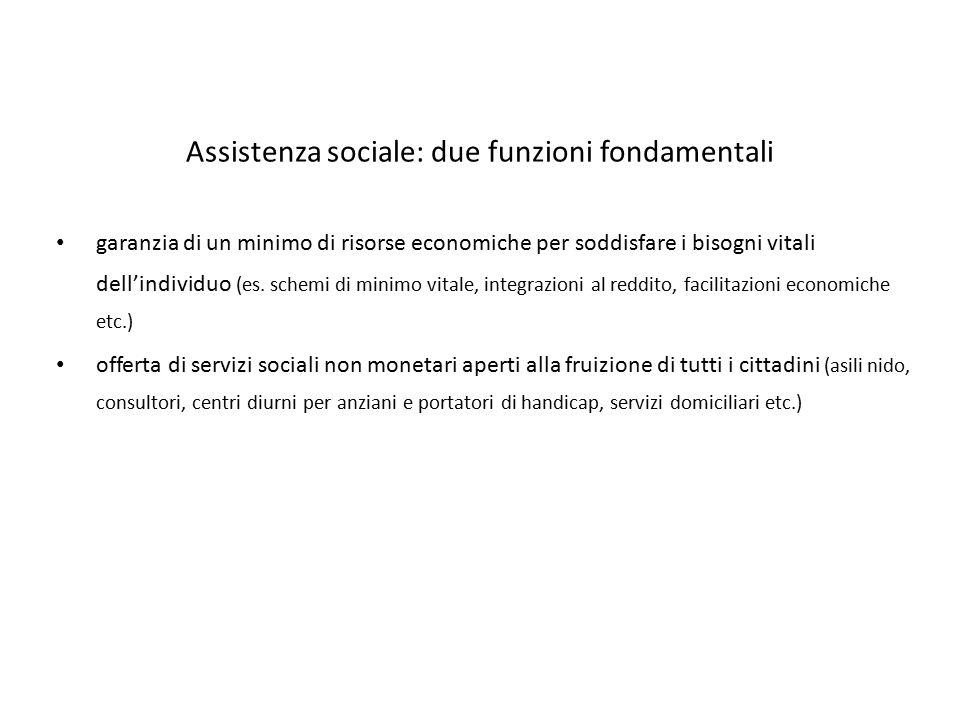 Assistenza sociale: due funzioni fondamentali