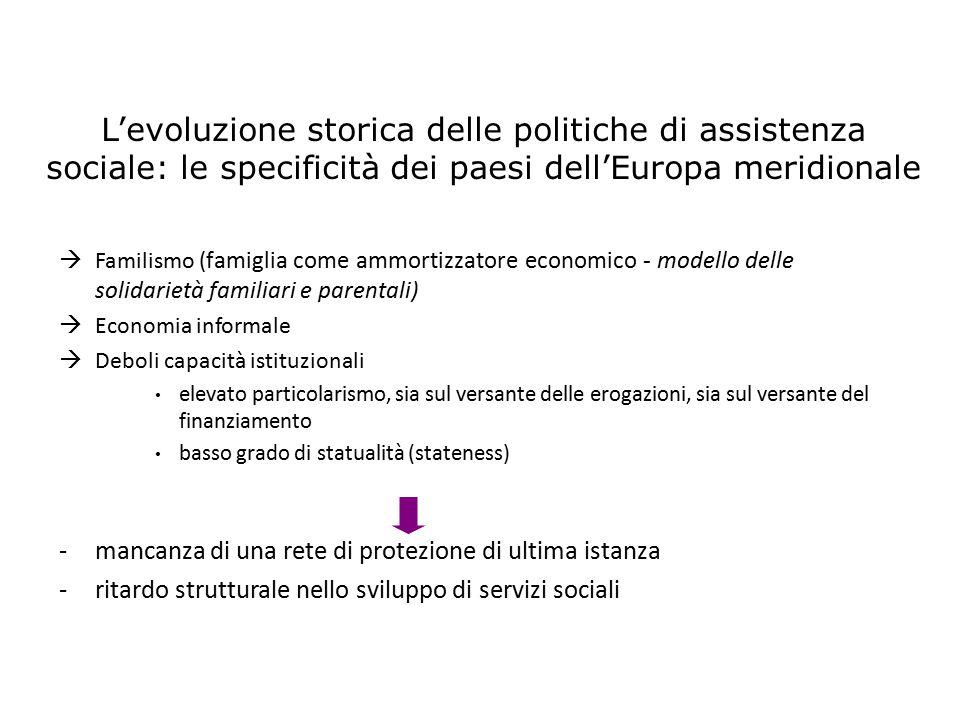 L'evoluzione storica delle politiche di assistenza sociale: le specificità dei paesi dell'Europa meridionale