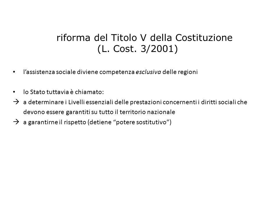 La riforma del Titolo V della Costituzione (L. Cost. 3/2001)