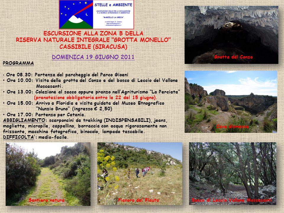 RISERVA NATURALE INTEGRALE GROTTA MONELLO CASSIBILE (SIRACUSA)