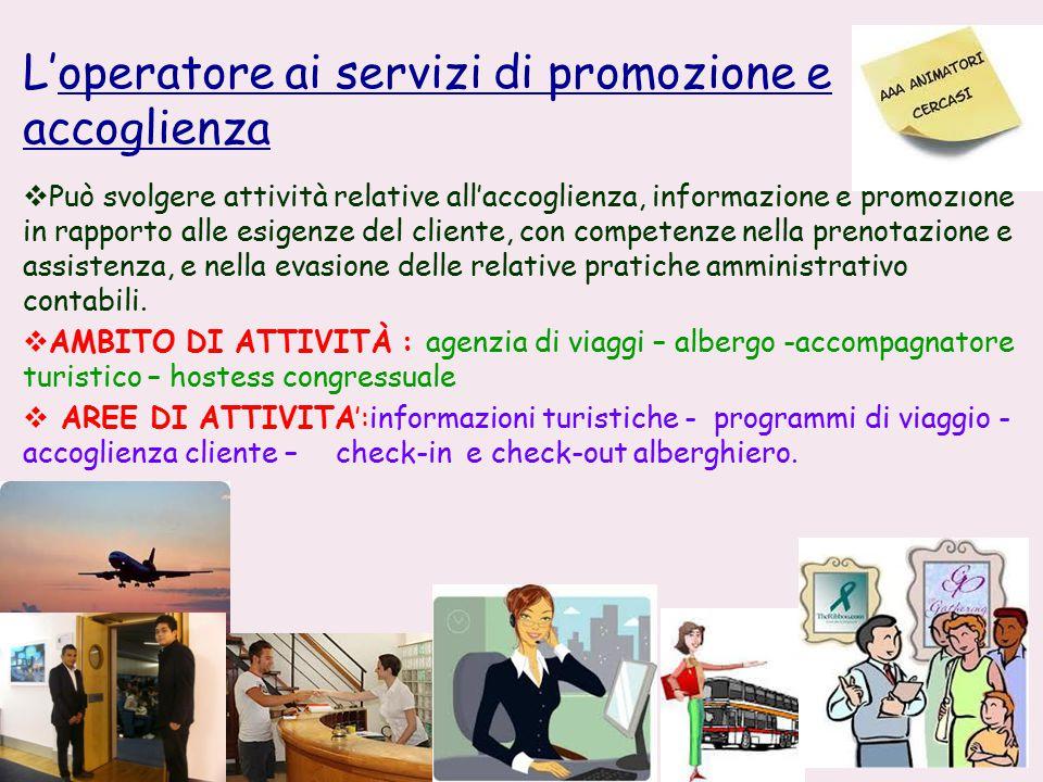 L'operatore ai servizi di promozione e accoglienza