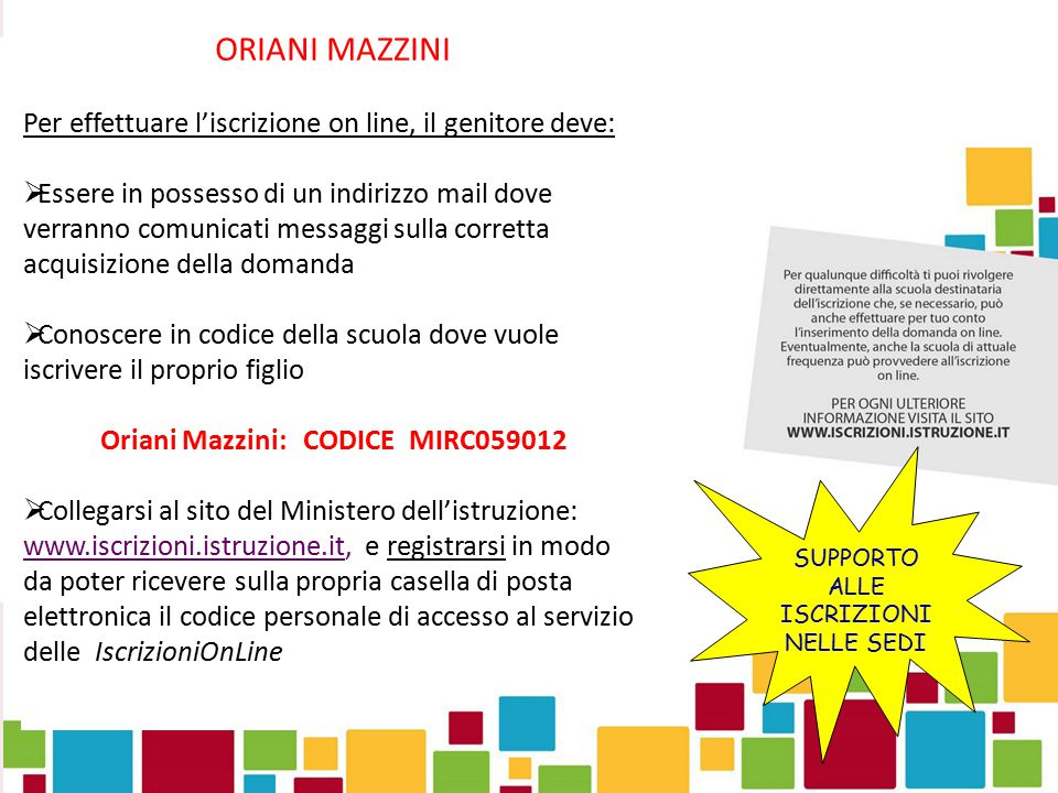 Oriani Mazzini: CODICE MIRC059012