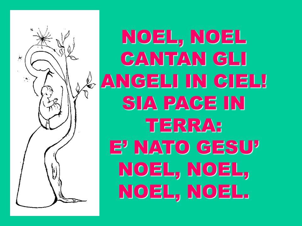 NOEL, NOEL CANTAN GLI ANGELI IN CIEL