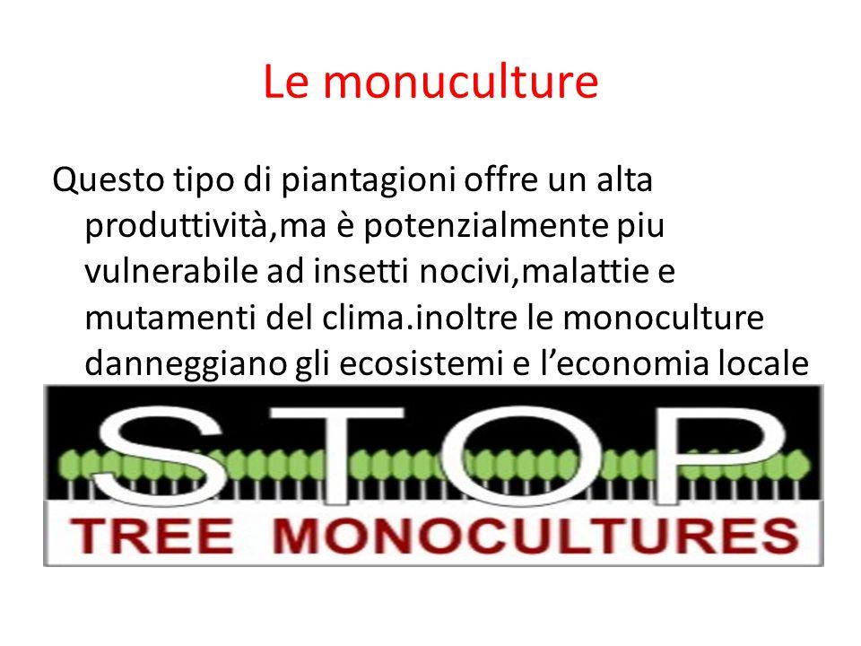 Le monuculture