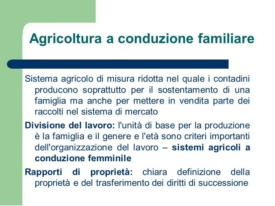 Agricoltura a conduzione familiare