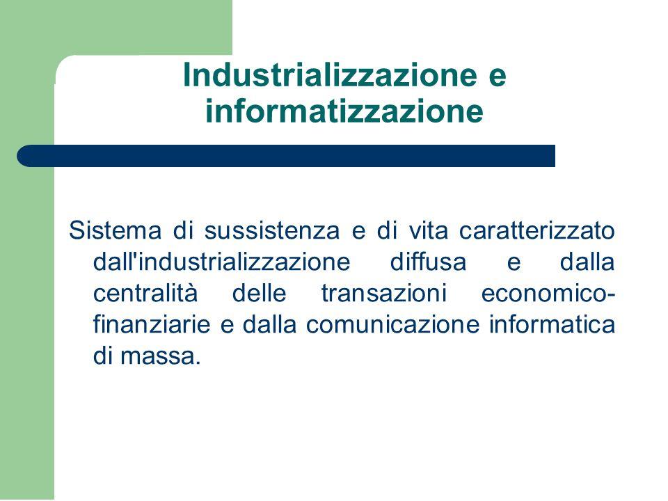 Industrializzazione e informatizzazione