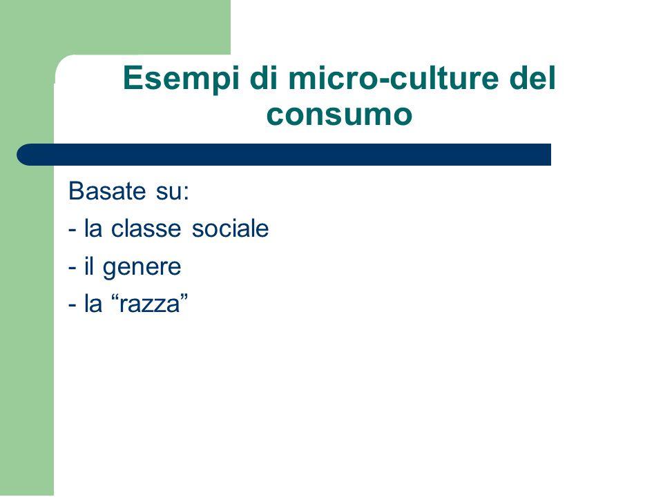 Esempi di micro-culture del consumo