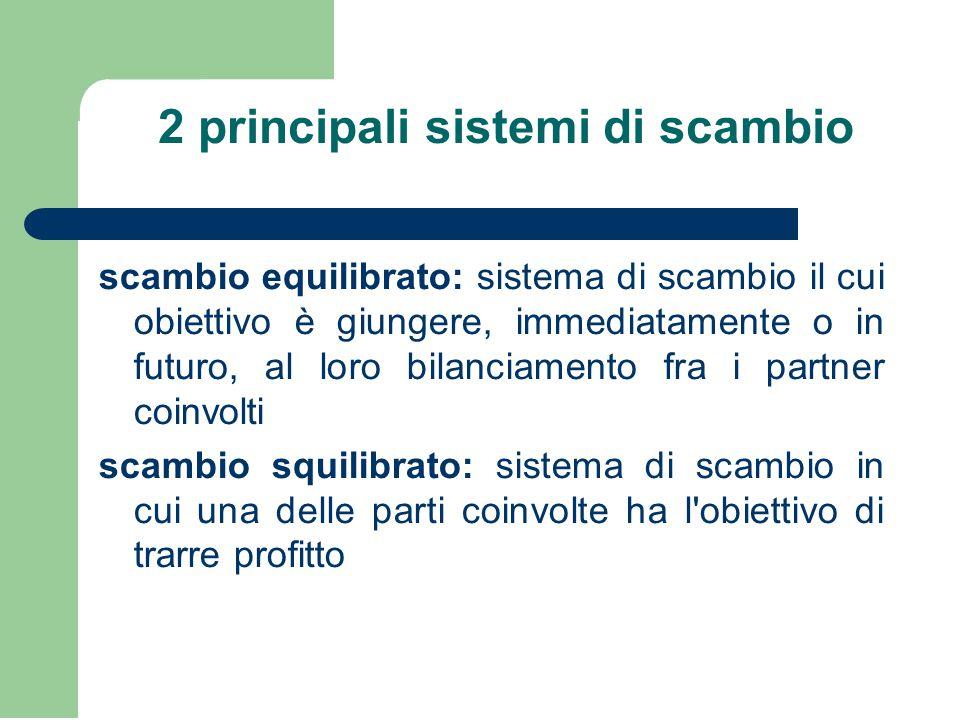 2 principali sistemi di scambio