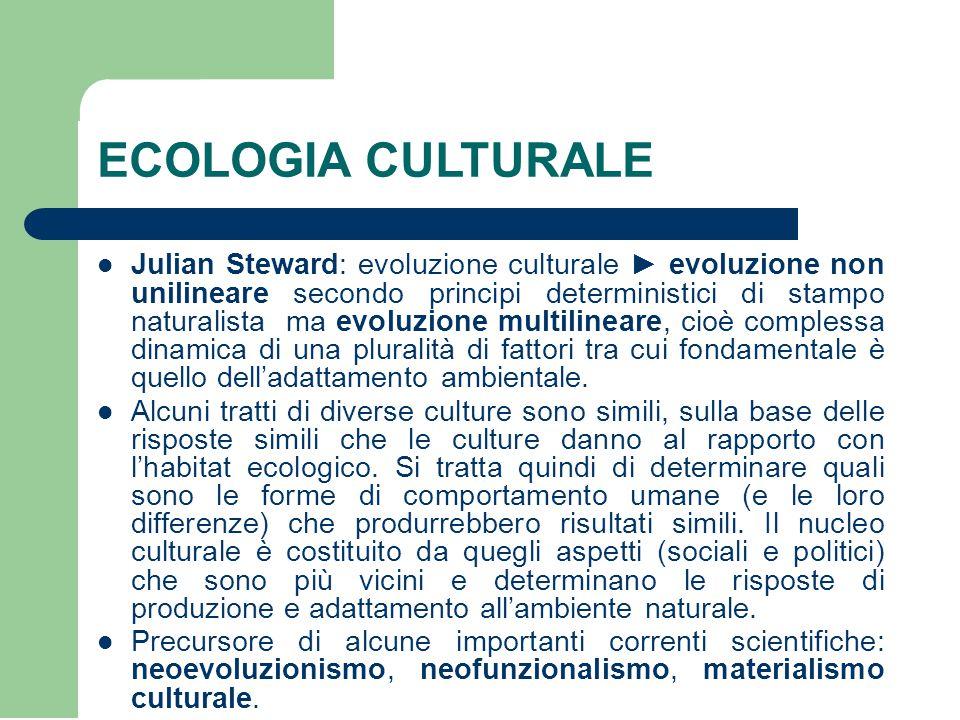 ECOLOGIA CULTURALE