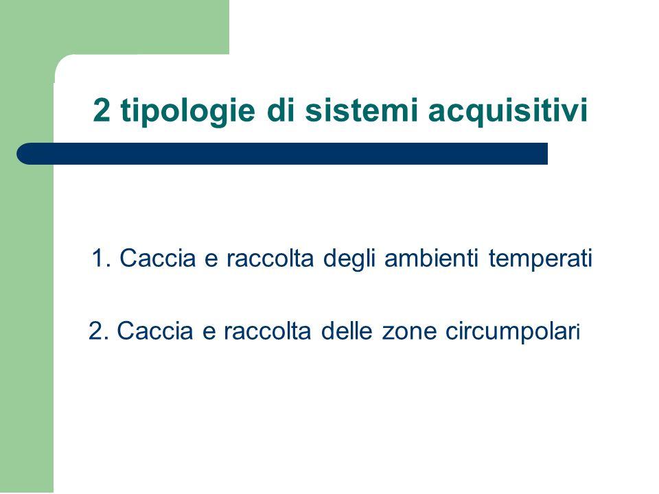 2 tipologie di sistemi acquisitivi