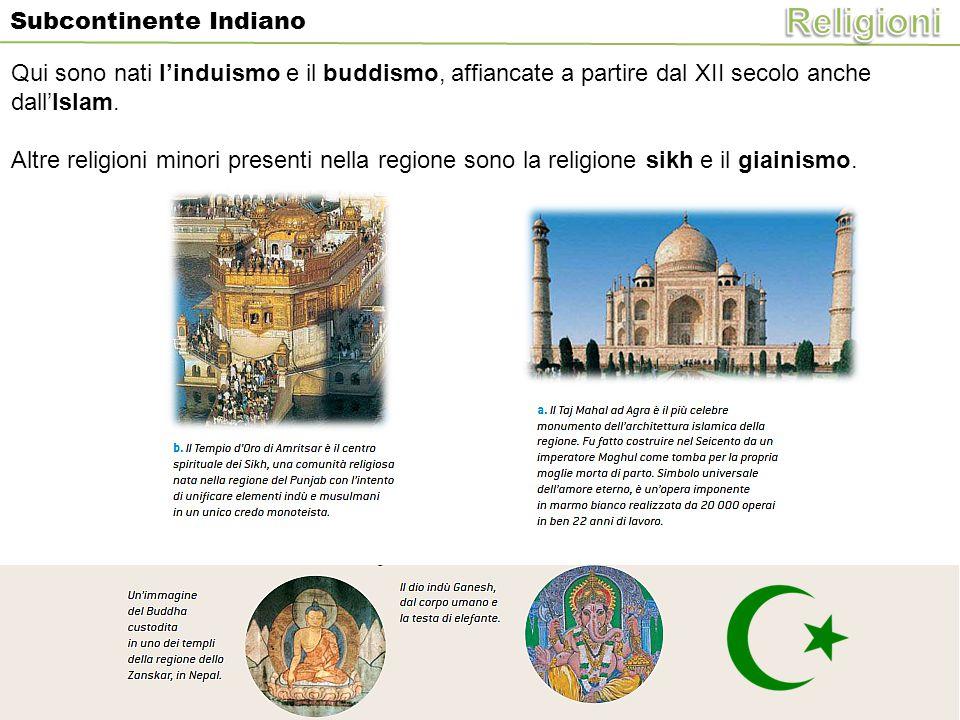 Religioni Qui sono nati l'induismo e il buddismo, affiancate a partire dal XII secolo anche dall'Islam.