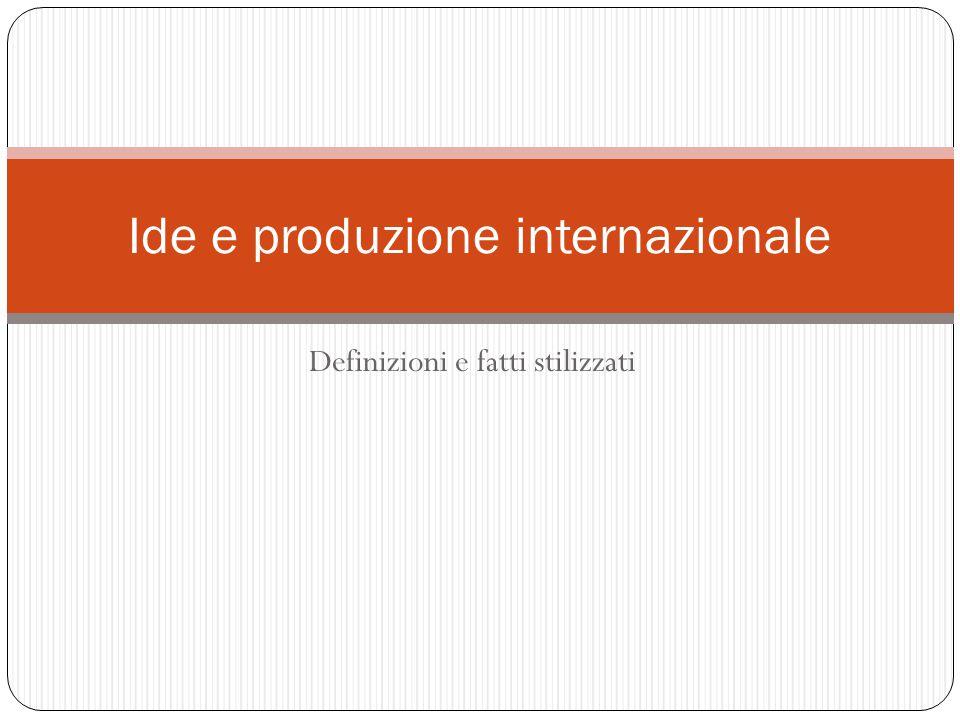 Ide e produzione internazionale
