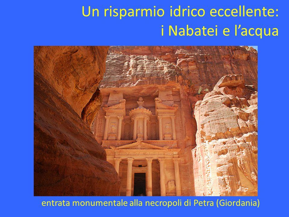 Un risparmio idrico eccellente: i Nabatei e l'acqua