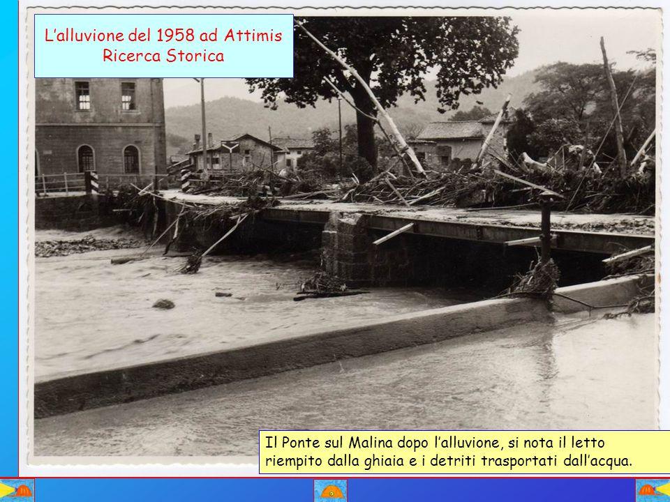 L'alluvione del 1958 ad Attimis Ricerca Storica