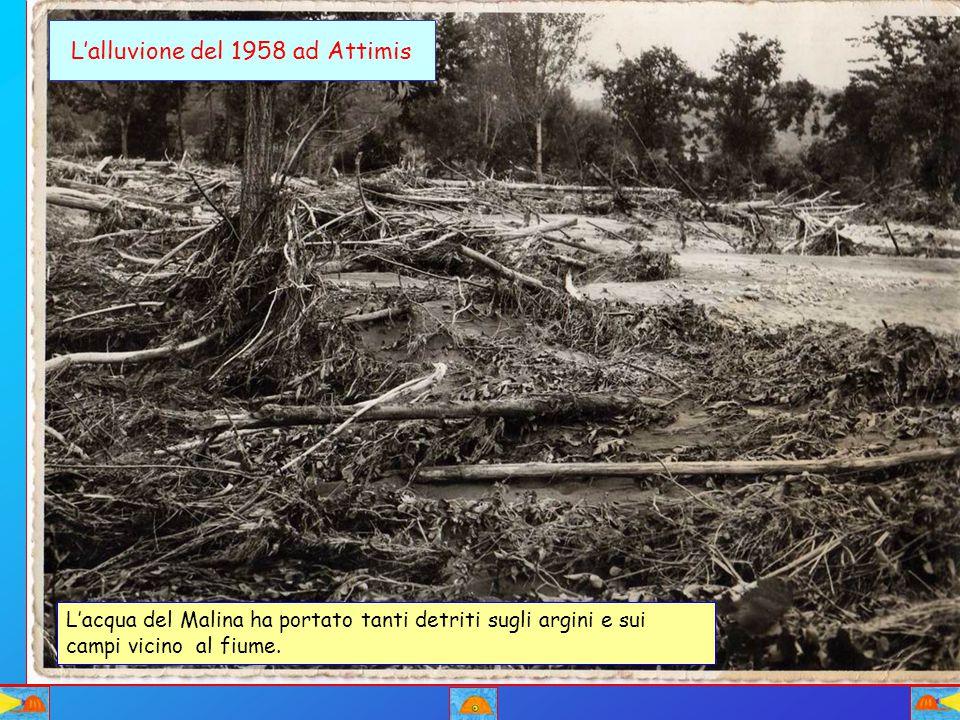 L'alluvione del 1958 ad Attimis
