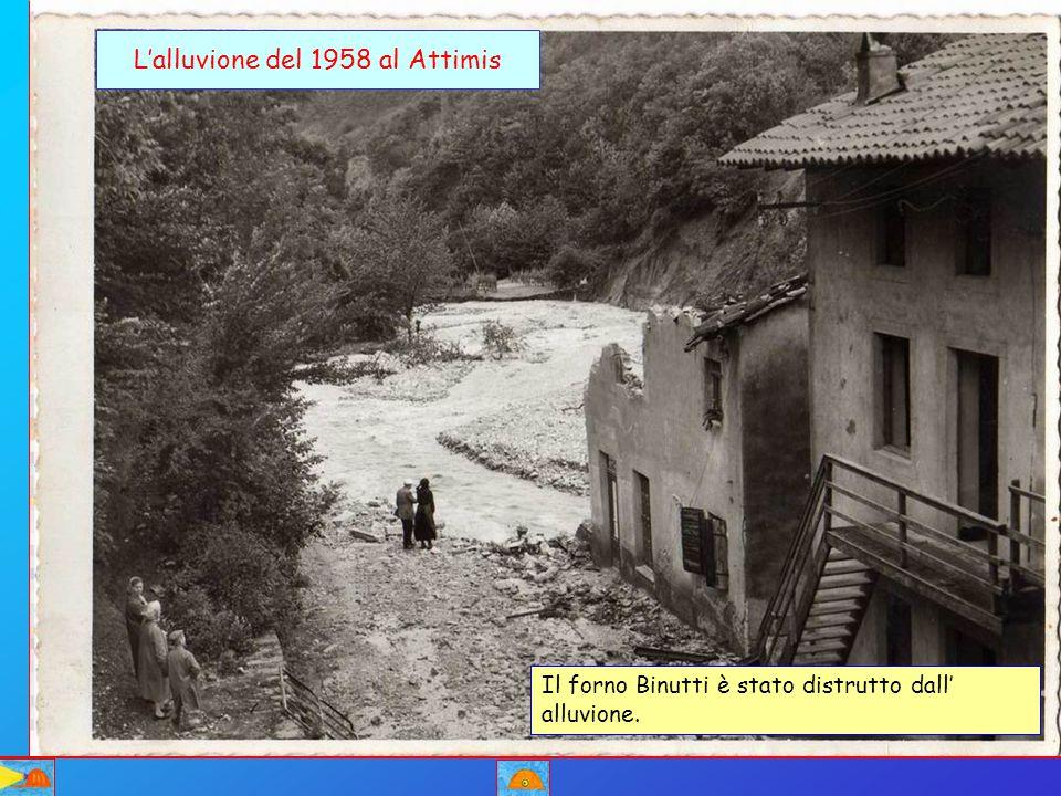 L'alluvione del 1958 al Attimis