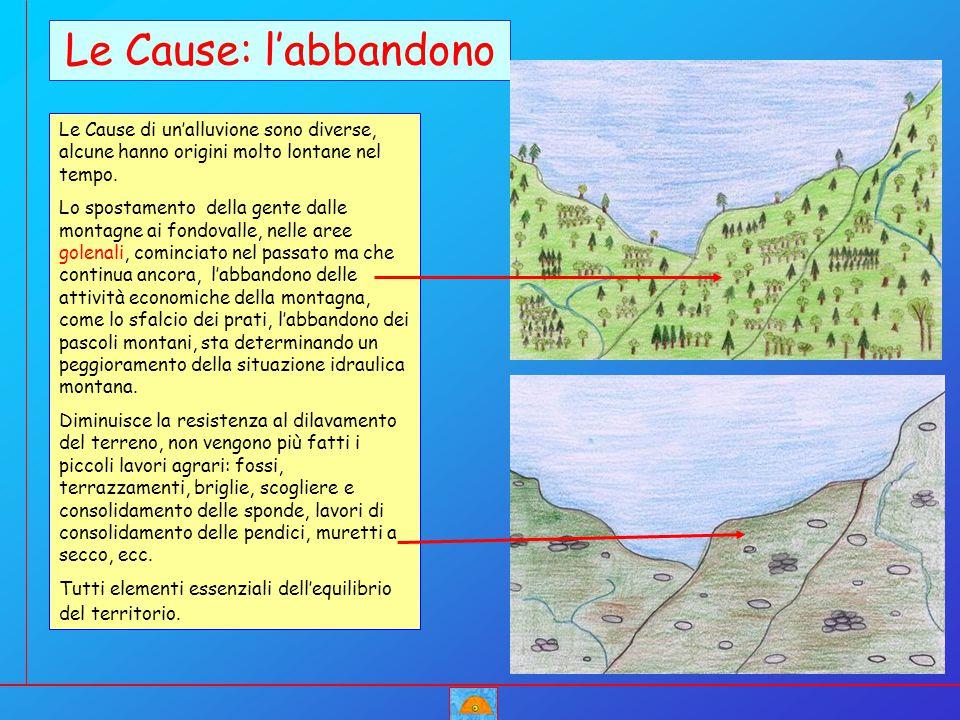 Le Cause: l'abbandono Le Cause di un'alluvione sono diverse, alcune hanno origini molto lontane nel tempo.