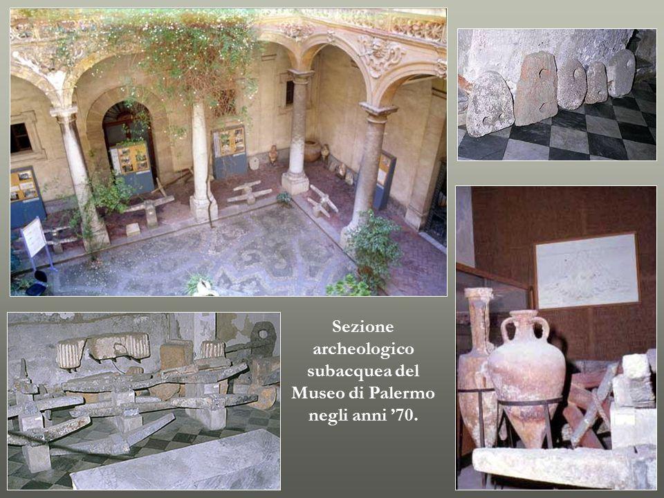 Sezione archeologico subacquea del Museo di Palermo negli anni '70.