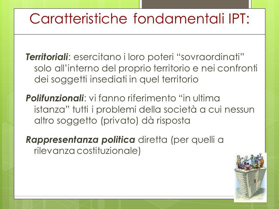 Caratteristiche fondamentali IPT: