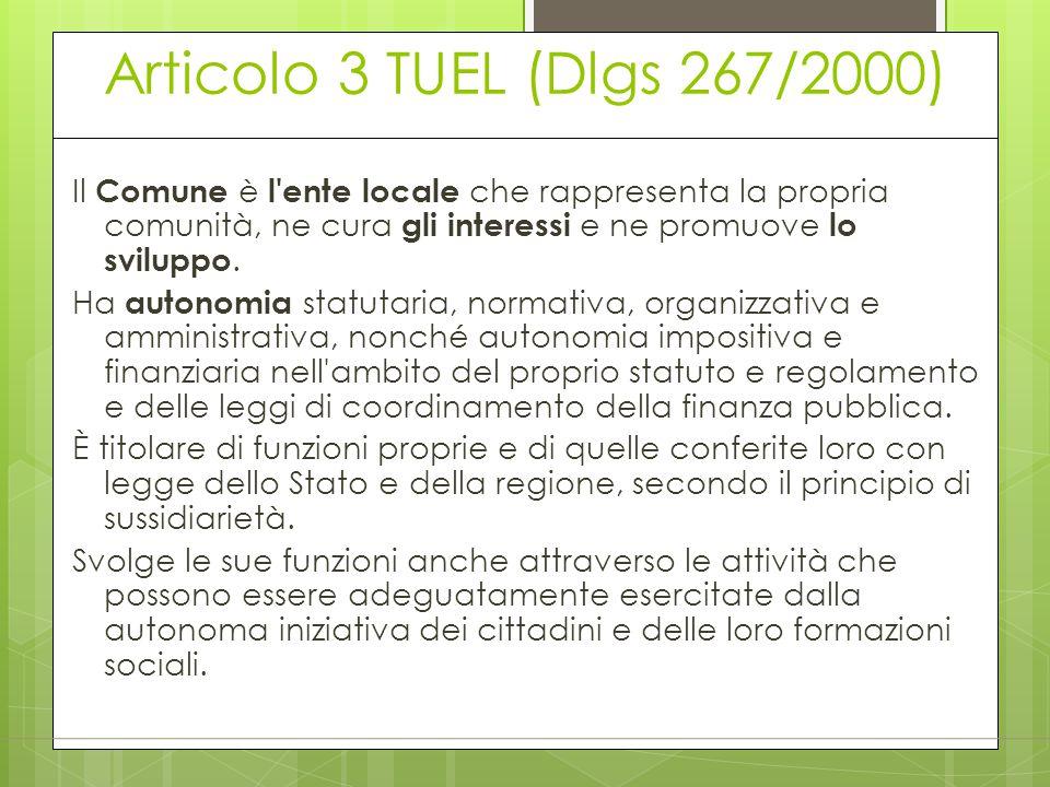 Articolo 3 TUEL (Dlgs 267/2000)